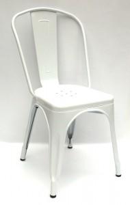 krzesło metalowe Tolix białe